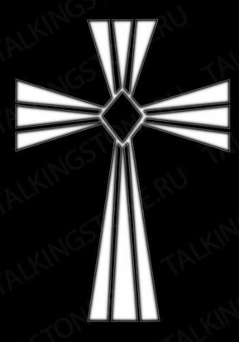 Гравировка крест GG8276