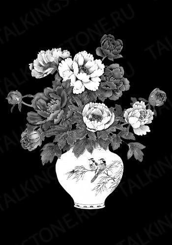 Гравировка цветов на памятник GG8703
