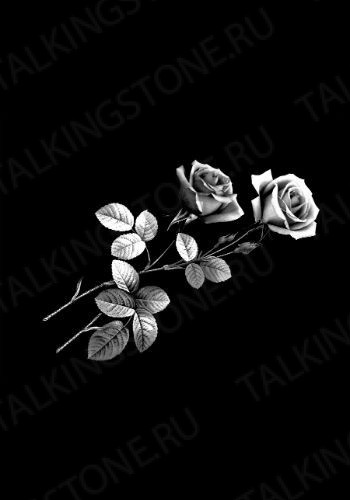 Гравировка цветов на памятник GG8705