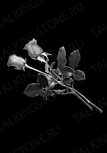 Гравировка цветов на памятник GG8707