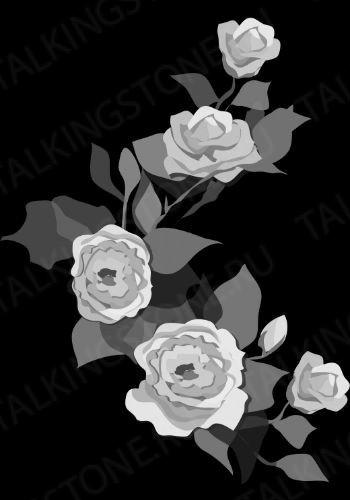 Гравировка цветов на памятник GG8722