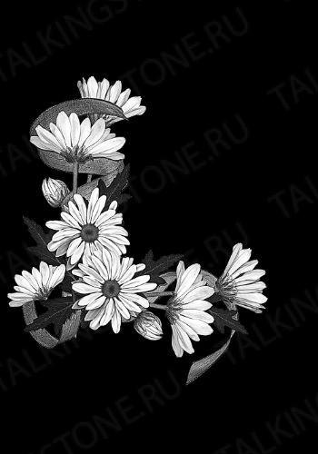 Гравировка цветов на памятник GG8728