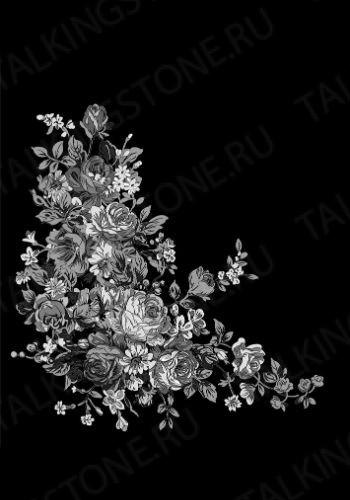 Гравировка цветов на памятник GG8732