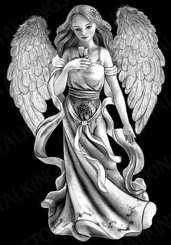 Гравировка ангел GG8044