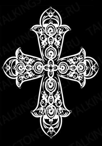 Гравировка крест GG8294