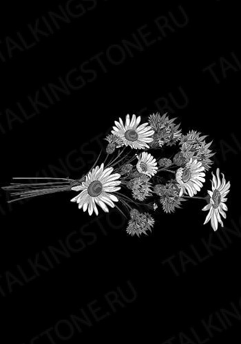 Гравировка цветов на памятник GG8704