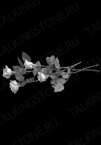 Гравировка цветов на памятник GG8706