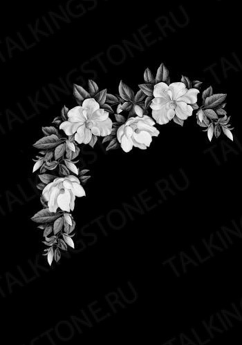 Гравировка цветов на памятник GG8717