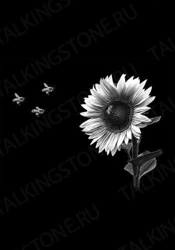 Гравировка цветов на памятник GG8719