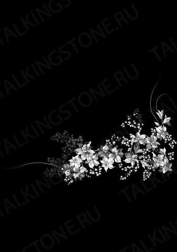 Гравировка цветов на памятник GG8726