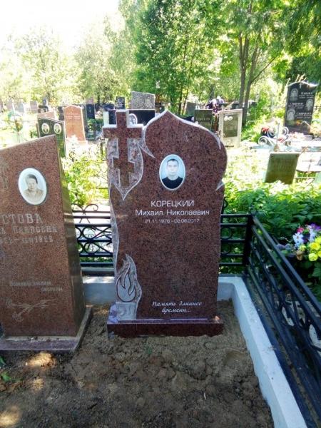 Фото надгробий и памятников на кладбище
