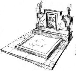 Мемориальный комплекс из гранита на могилу