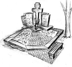 Гранитные мемориальные комплексы на могилу