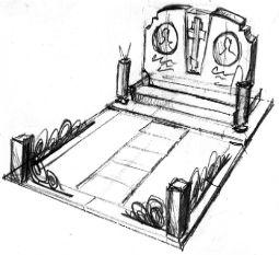 Мемориальные комплексы на три могилы